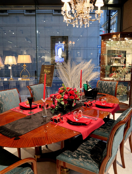 赤×黒でオトナのヴァレンタインテーブル