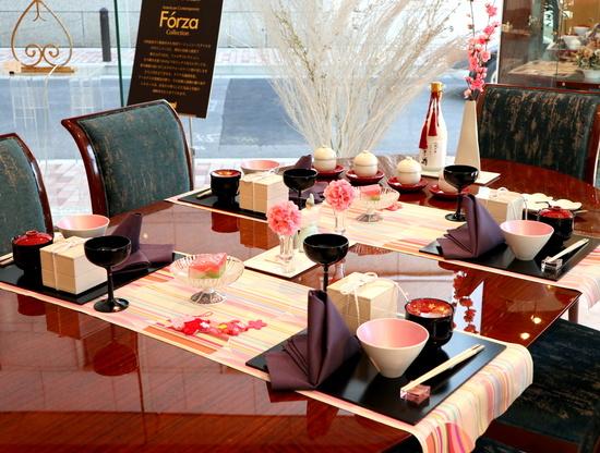 桃の節供のテーブルコーディネート